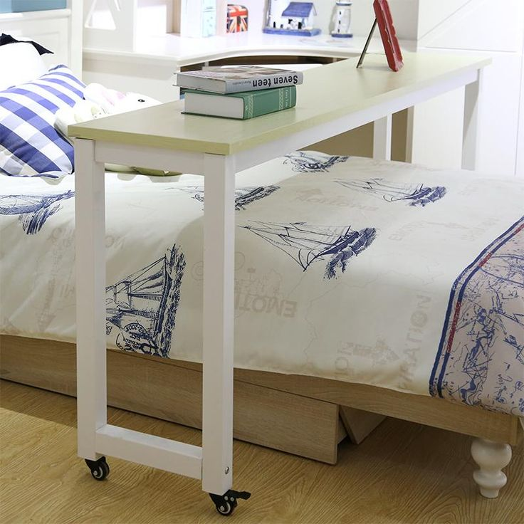 Simple moving across the bed table laptop computer table desk double bed bedside tables desk