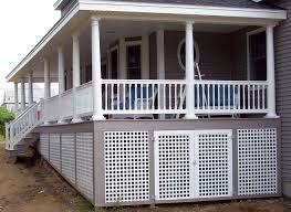 Image Result For White Square Lattice Under Deck Porches