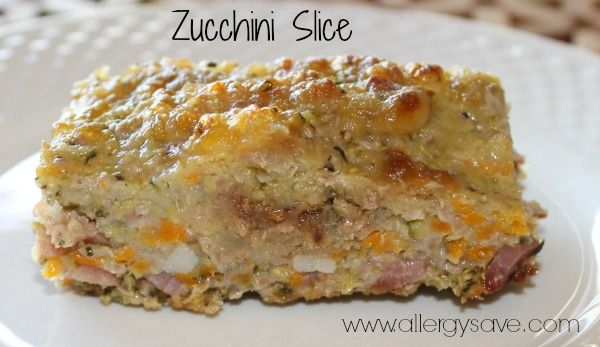 Zucchini Slice - No eggs, dairy, gluten or grains!!