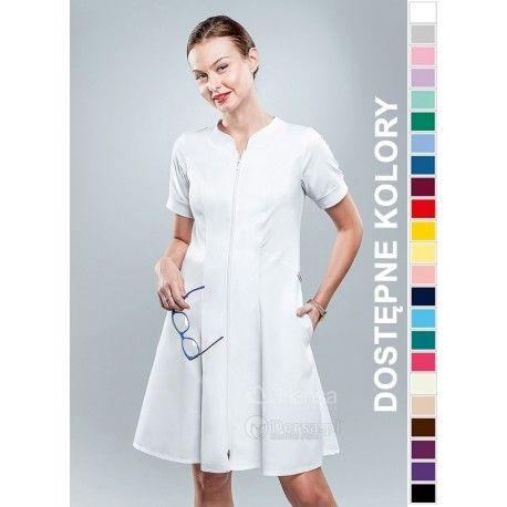 Sukienka Medyczna Hansa 0205 | Odzież damska | Dla lekarzy, farmaceutek i pielęgniarek. | Sklep internetowy Dersa |