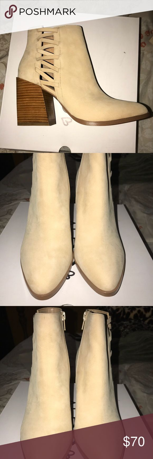 ALDO BNIB Alenama-32 Beige Booties Brand new in box. Never worn. Tried once. Fits true to size. No rips, tears or stains. Smoke & pet free home. Aldo Shoes Ankle Boots & Booties