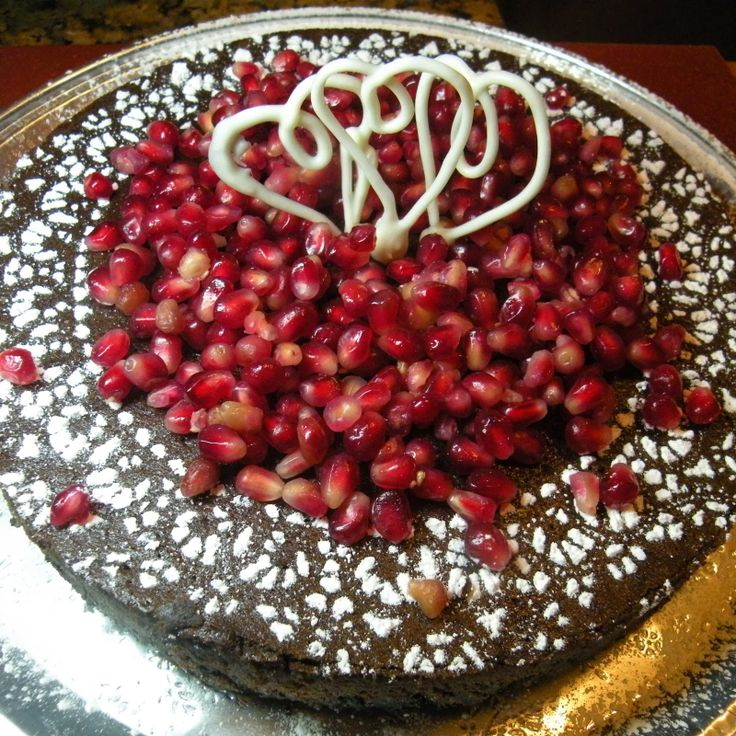Chocolate Pomegranate Torte | Recipes from my Blog | Pinterest
