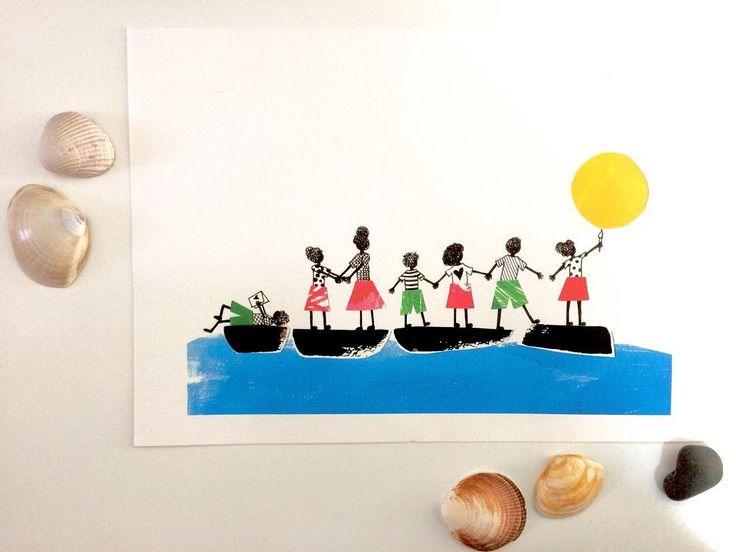 A loja online reabre em breve e a ilustração das @500saiasparasaotome vai lá estar 💙 #illustration #illustratorsoninstagram #creativity #creativityfound #martabsousa