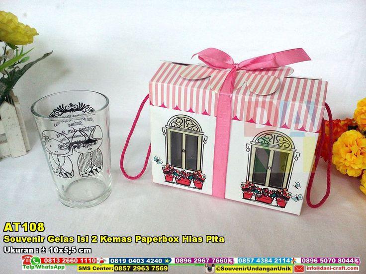 Souvenir Gelas Isi 2 Kemas Paperbox Hias Pita WA 089526045767 #hargaGelas #jualGelas #SouvenirGelas #HargaGelas #undanganPernikahan #ContohUndangan