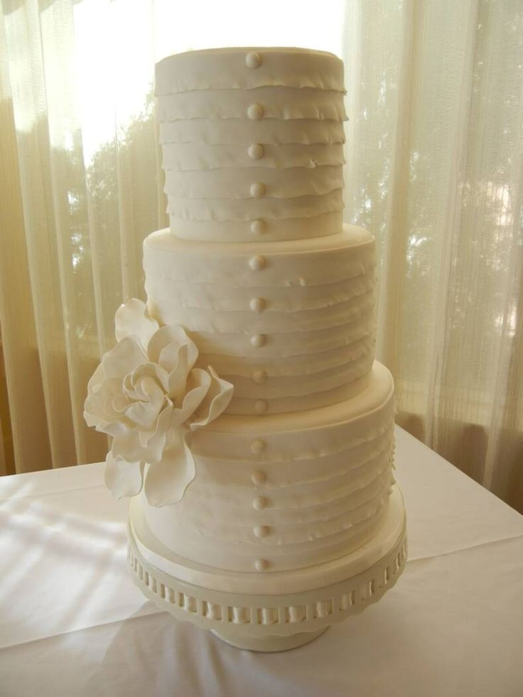 Buttoned Victorian Cake