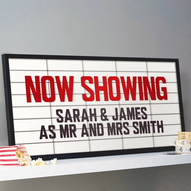 personalised cinema marquee sign print by the drifting bear co. | notonthehighstreet.com