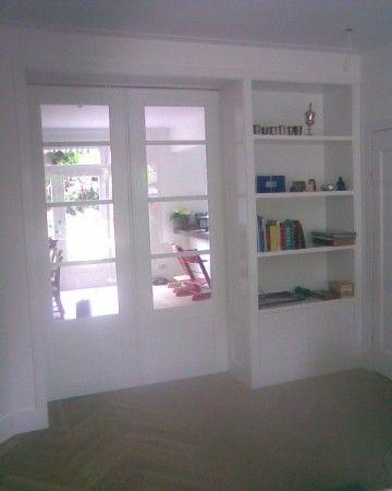 Kamer en-suite deuren met vaste kasten