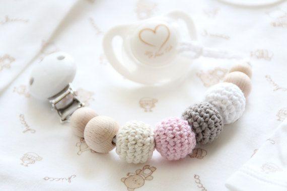 Pacifier holder / Dummy holder clip / Teething beads