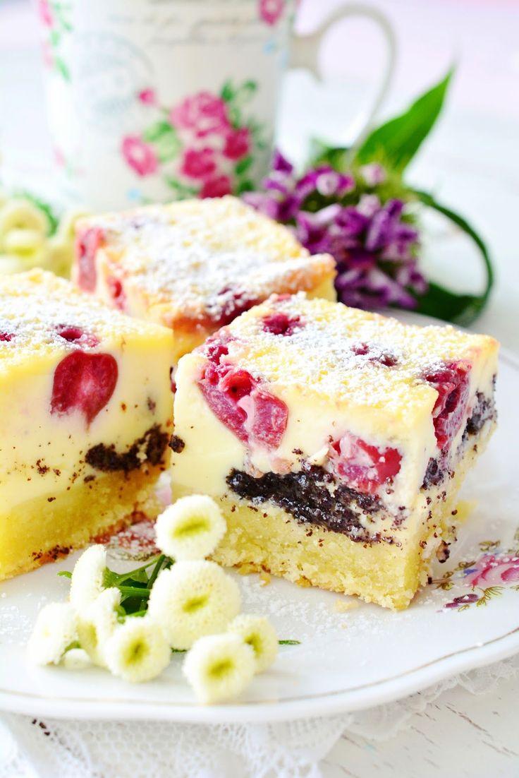 Kessy's Pink Sugar: Kirschmohnkuchen mit Schmandguss