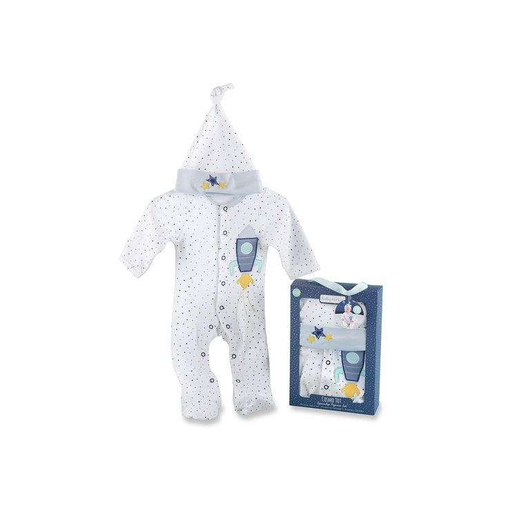 Baby Aspen Cosmo Tot Spaceship 2-Piece Pajama Gift Set, Infant Boy's, Multicolor