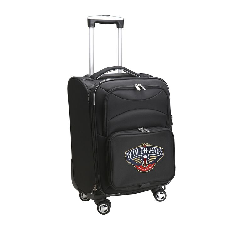 Denco New Orleans Pelicans 20-inch 8-wheel Carry-on Spinner Suitcase