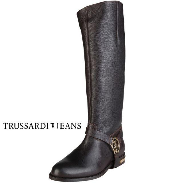 #trussardi #jeans #boots #škornji #smedja #smeda #brown #rjava #golden #gold #zlatna #zlata #usnje #koza #kozni #leather
