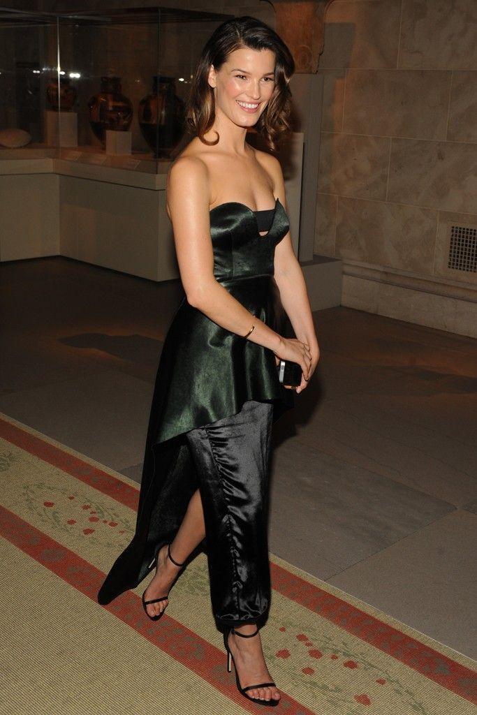 Hanneli Mustaparta in Calvin Klein Collection. [Photo by Steve Eichner]