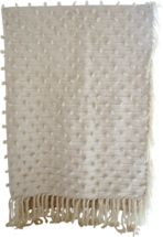 Palomita Wool and Cotton Bouclé Blanket by Mexchic