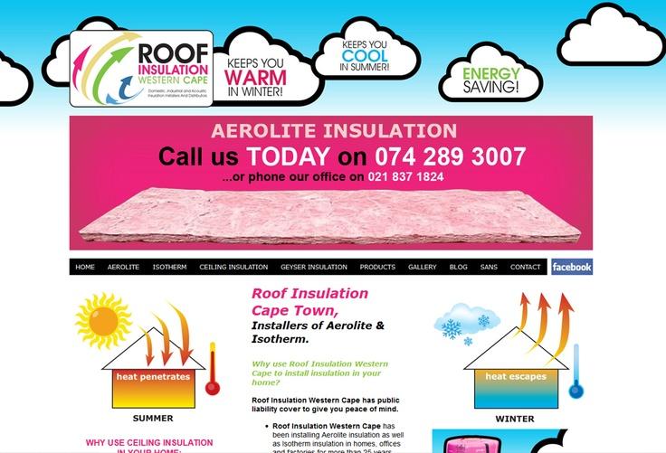 Website Design for Roof Insulations. View my full portfolio at: http://www.littleblackbirddesignstudio.co.za/portfolio.html