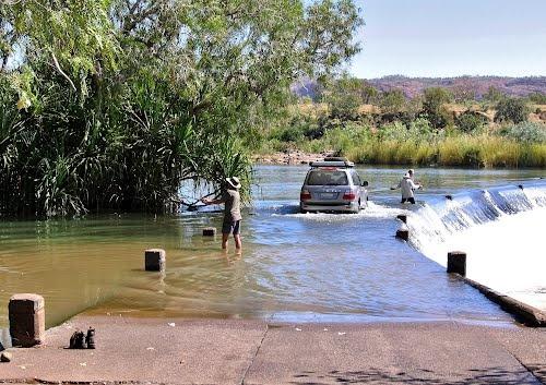 Ord River at Ivanhoe Crossing - near Kununurra....don't mind the Crocs!