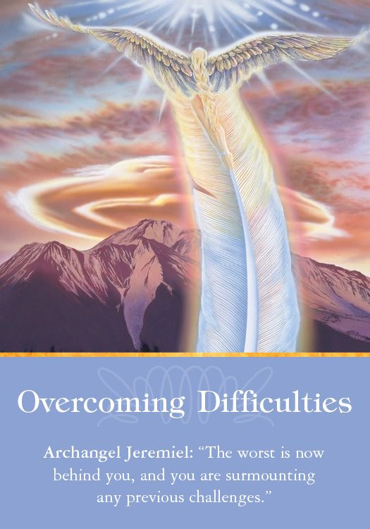 Oracle Card Overcoming Difficulties | Doreen Virtue | official Angel Therapy Web site