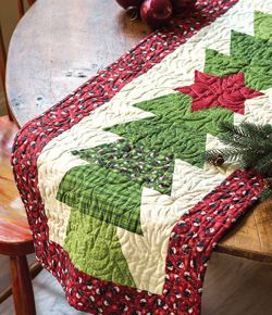 Half Hexy Table Runner - quilted table runner - Quickly Quilting - Winter 2013 - digital pattern to buy #christmas #tablerunner
