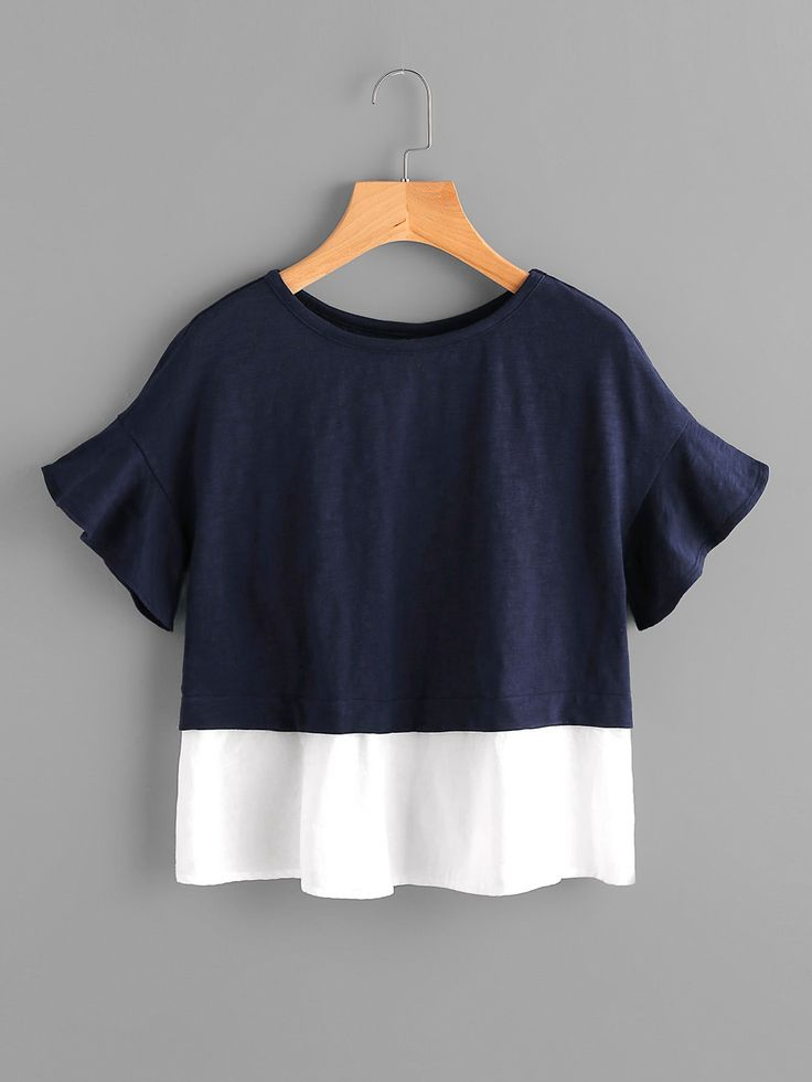 Shop Bell Sleeve Overlap Back Mixed Media T-shirt online. SheIn offers Bell Sleeve Overlap Back Mixed Media T-shirt & more to fit your fashionable needs.