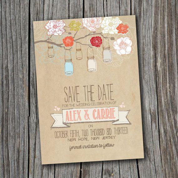 Save the Date Card - Printable - DIY Wedding, RUSTIC, Custom, Vintage (Wedding Design #6) on Etsy, $16.94 AUD