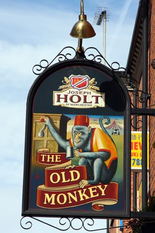 Pub Signs - The Old Monkey - Pixstreet Photo Gallery