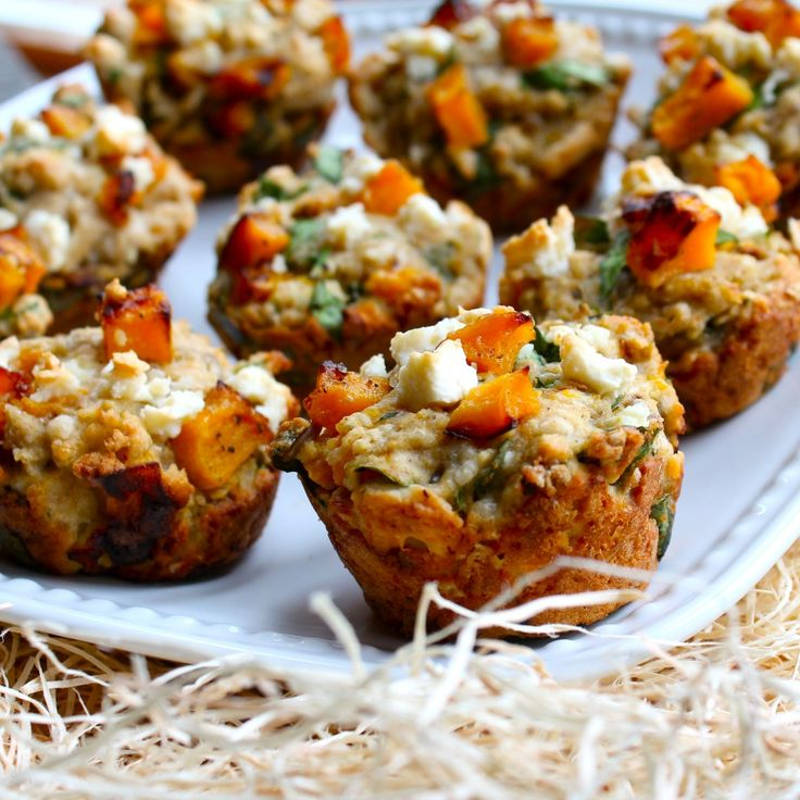 butternut and feta muffins.  No parsley or feta.  Added some oil.