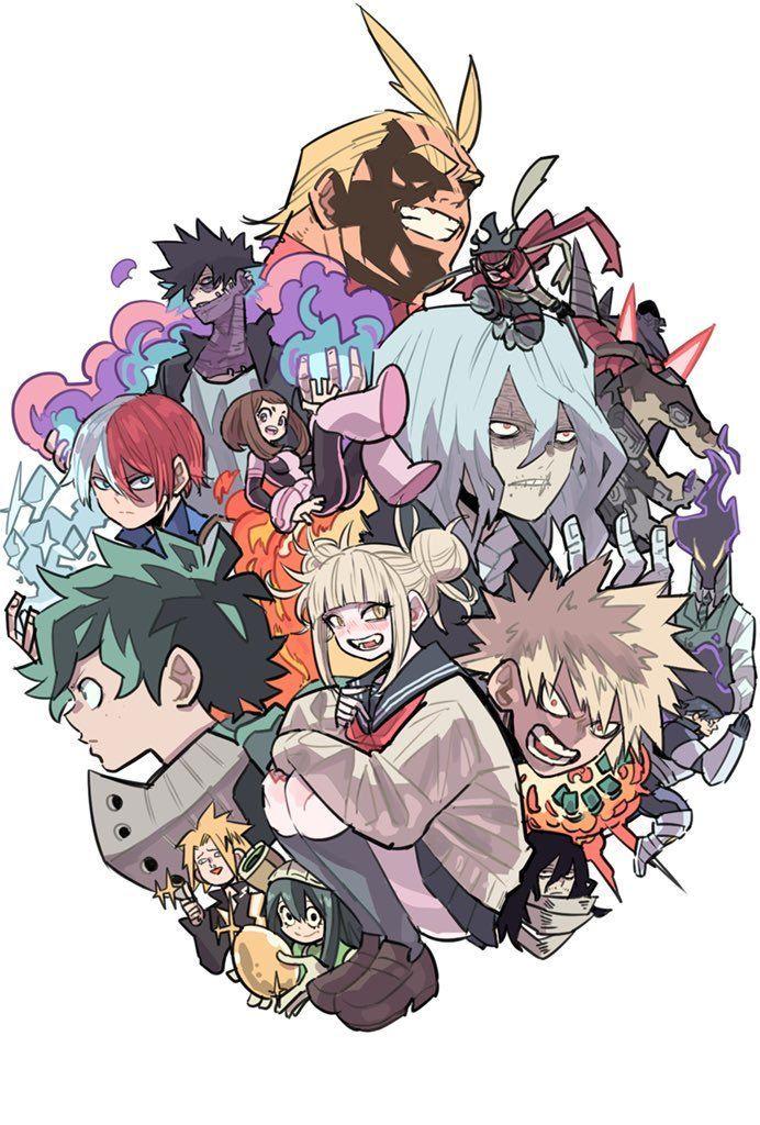 My Hero Academia Heroes Vs Villains Wallpaper