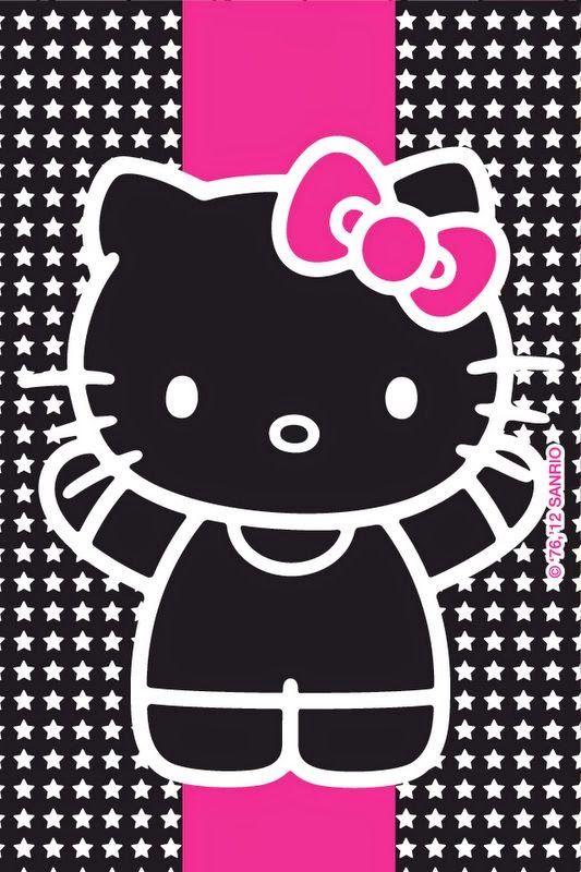 hello kitty en negro y rosa