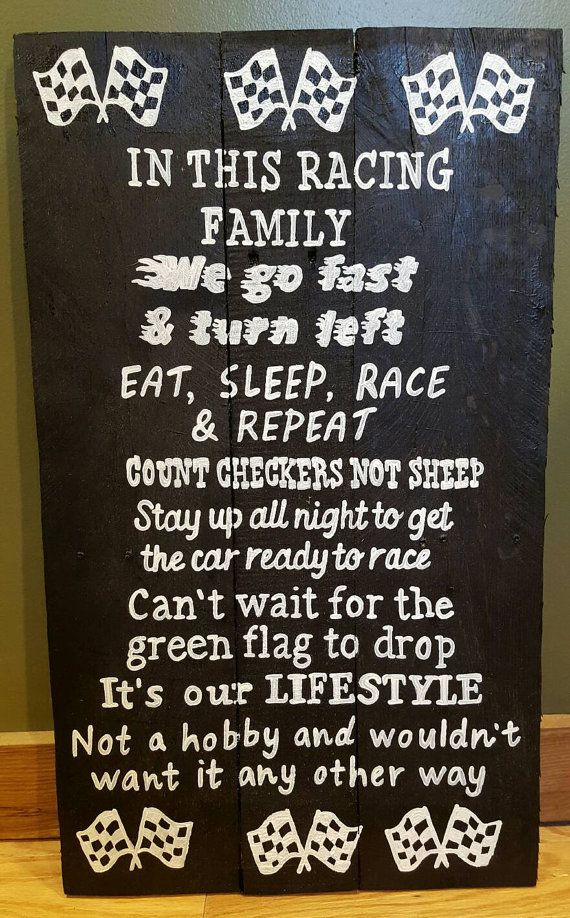 Racing sign  14  wide x 24 tall  Can be customized with or without a number.  All of my signs are handmade and handpainted by me, they may