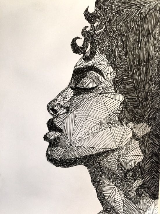 Drawing portraits geometric portrait art print for sale on discover the secrets of drawing realistic pencil portraits let me show you how you too can