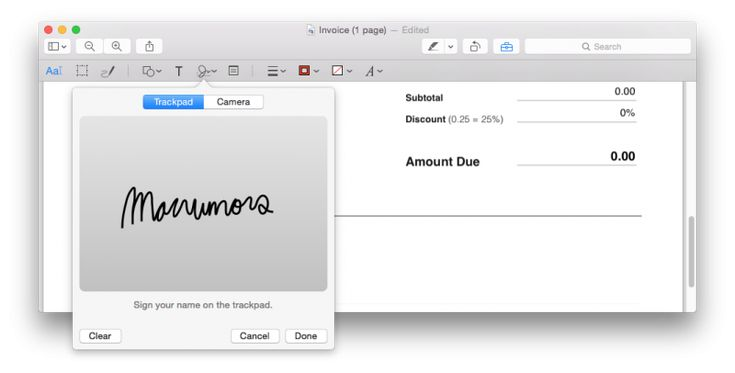 How to Digitally Sign a PDF Using Preview on Mac  MacRumors