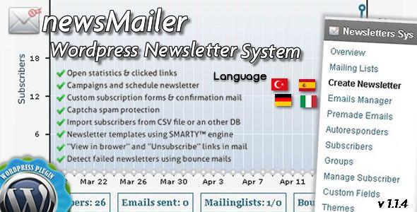 newsMailer - WordPress Newsletter System Plugin (Newsletters)