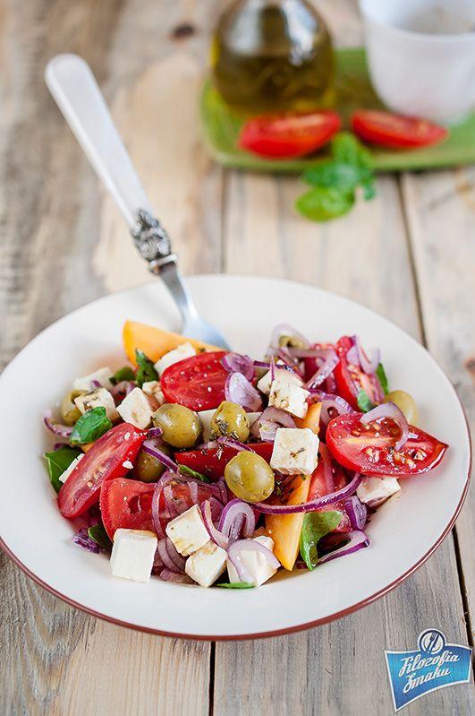 Sałatka z pomidorów i fety na grilla