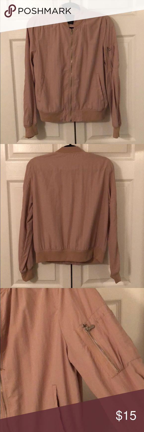 Zara Pink Bomber Jacket Zara Bomber Jacket in a light pink color. Very lightweight. Worn a few times. Good condition. Zara Jackets & Coats
