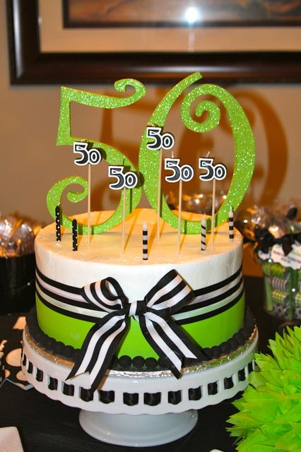 Decorations at a 50th Birthday #50thbirthday #partydecorations