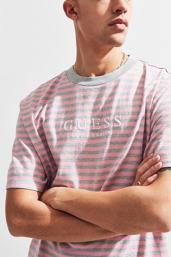 219bafa1123e GUESS Robertson Stripe Tee | Style Inspo | Striped tee, Tees, Mens tops