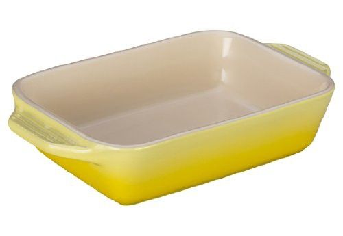 Le Creuset Stoneware Rectangular Dish, 7 by 5-Inch, Soleil