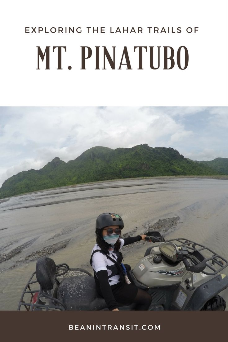 Driving an ATV to the lahar trail of Mt. Pinatubo was definitely a one-of-a-kind experience!