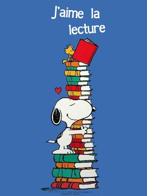 Snoopy: j'aime-la-lecture