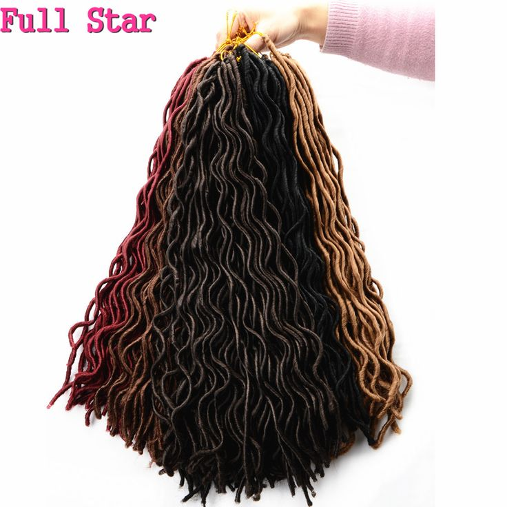 1-9 pack 24 Roots Faux Locs Curly Crochet Hair 20'' Soft Curly Crochet Braids Hair Extension Crochet Faux Lock Wavy Dreadlocks