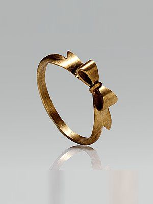"i would LOVE to get a ring like this!  would also be a cute gift for bridesmaids    ""i'll tie a string around your finger so you wont forget ;)"""