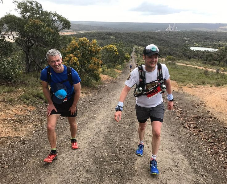 Ahhh happy days aka Heartbreak Hill at 56km. Running with the legend Andy Payne from @oscars100 pulled us through some tough patches yesterday. That's why we loooooove these events and trail running in general - for the incredible people. Incidentally we're training for Andy's run @oscars100hut2hut in Feb. the hills are slightly steeper than this one  . . . . . #runshots #runtoexplore #runnersrunningmagazine #surfcoastcentury #running #trailrun #trailrunner #trailrunning #rapidascent…