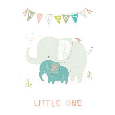 Baby Boy - Birth Announcement Card. £2.50, via Etsy.