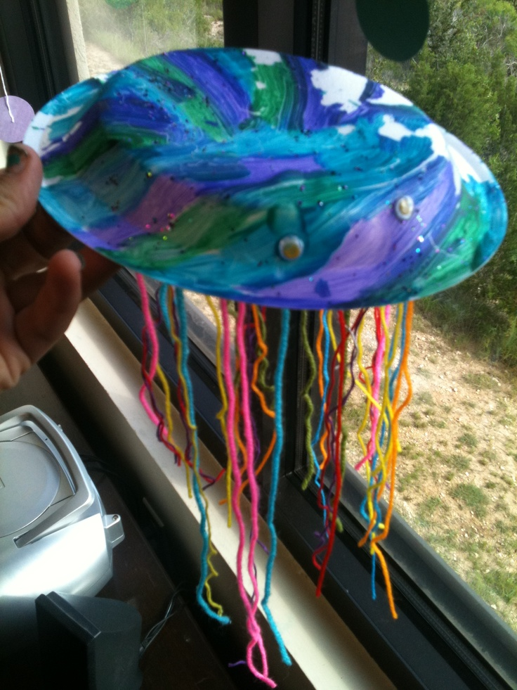 Paper bowl jellyfish | My Old Classroom | Pinterest