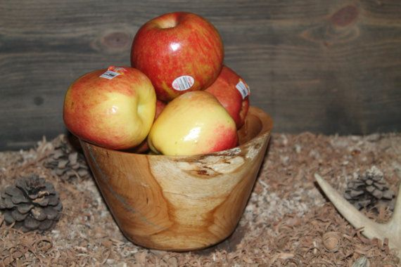 wooden fruit bowl by thiswoodsforyou on Etsy