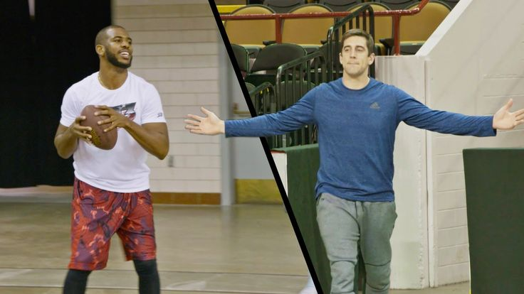 It's trick shot time with Chris Paul and Aaron Rodgers! ►Powered by State Farm | Check out both Chris and Aaron's charities below! ►The Chris Paul Family Fou...