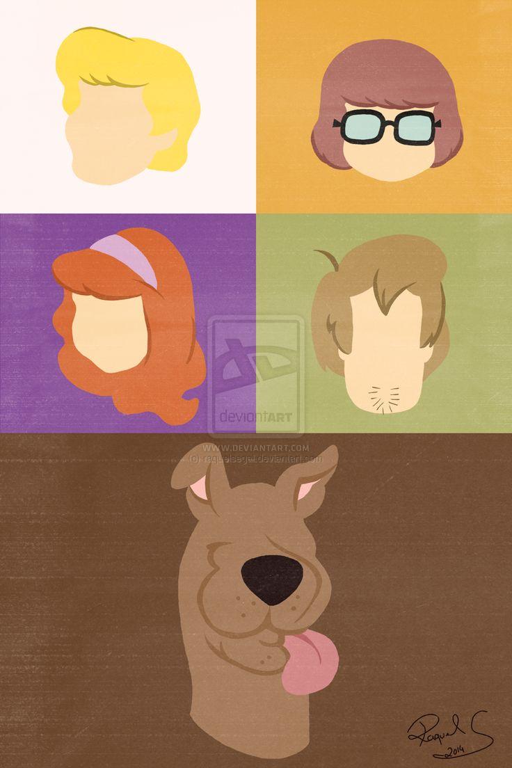Desenho: Scooby-DooPersonagens: Fred Jones, Daphne Blake, Salsicha Rogers, Scooby-Doo e Velma Dinkley