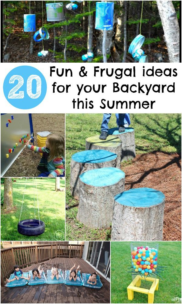 20 awesome features to add to your backyard this summer, all are cheap to make or even free. Great diy garden play ideas