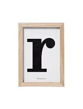 """Bilderrahmen Bilderrahmen mit Monogramm """" R """", von Bloomingville."""
