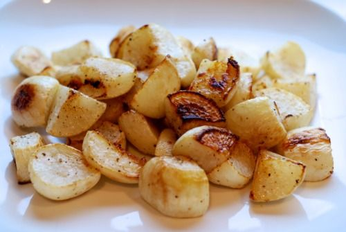 Roasted Turnips   Nom Nom Paleo (use tallow or lard in place of ghee)